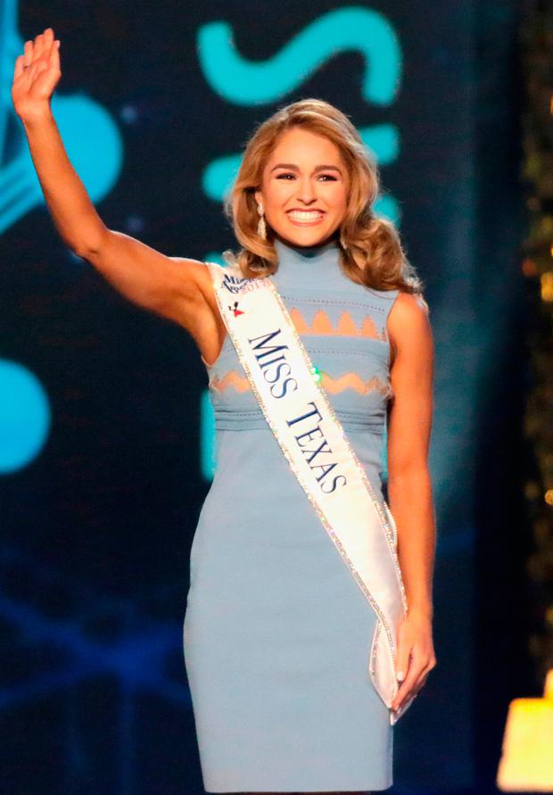Miss Texas 2017 Margana Wood is selected during the 2018 Miss America Competition Show at Boardwalk Hall Arena on September 10, 2017 in Atlantic City, New Jersey. (Photo by Donald Kravitz/Getty Images for Dick Clark Productions)