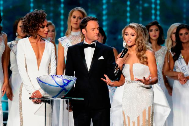 Miss Texas 2017 Margana Wood participates in Question challenge during the 2018 Miss America Competition Show at Boardwalk Hall Arena on September 10, 2017 in Atlantic City, New Jersey. (Photo by Donald Kravitz/Getty Images for Dick Clark Productions)