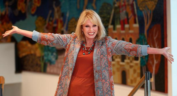 Joanna Lumley before a Children in Crossfire press conference at the Millennium Forum in Derry. Photo: Niall Carson/PA Wire