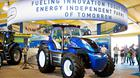 A methane-powered concept tractor by New Holland Agricultural Equipment SpA, a division of CNH Industrial NV on display during the Farm Progress Show in Decatur, Illinois
