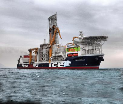 The Stena's IceMAX ship which drilled the well