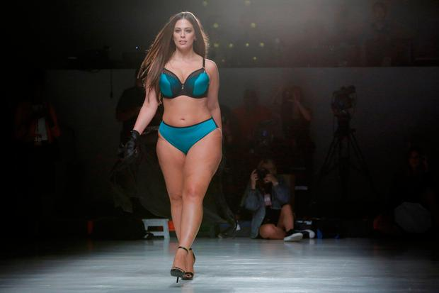 Model Ashley Graham walks the runway during rehearsals for the Addition  Elle Spring Summer 2018 4b6c19591