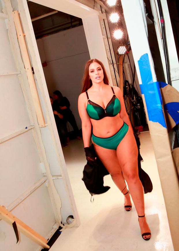 Ashley Graham poses backstage for the ADDITION ELLE NYFW September 2017 Presentation on September 11, 2017 in New York City. (Photo by Gonzalo Marroquin/Getty Images for Addition Elle)