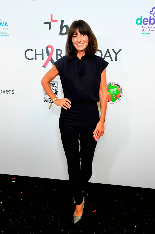 Davina McCall during the 13th BGC Annual Charity Day at Canary Wharf in London
