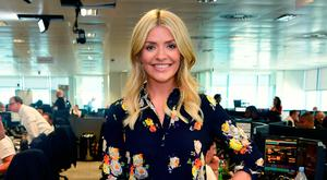 Holly Willoughby during the 13th BGC Annual Charity Day at Canary Wharf in London, in commemoration of the 658 employees and 61 Eurobroker employees of BGC who were lost in the World Trade Center attacks on 9/11