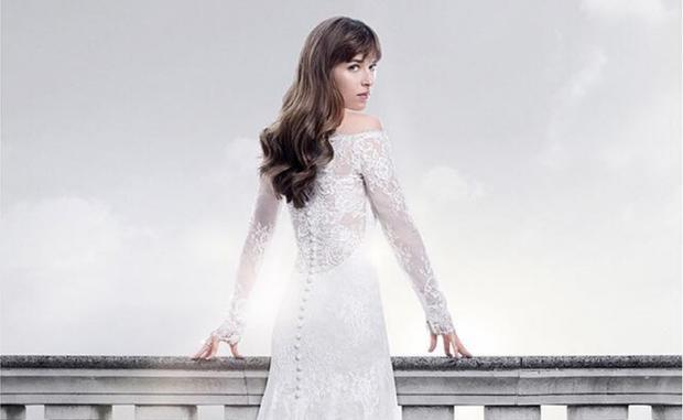 The Internet Is Going Crazy For The 50 Shades Wedding Dress Here