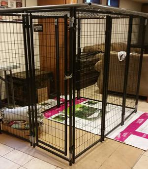 Image of the cage shared by Racine Sheriff's department