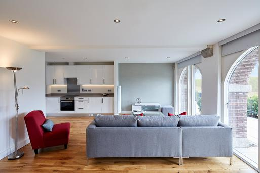 Interior images from the Clancy Quay development