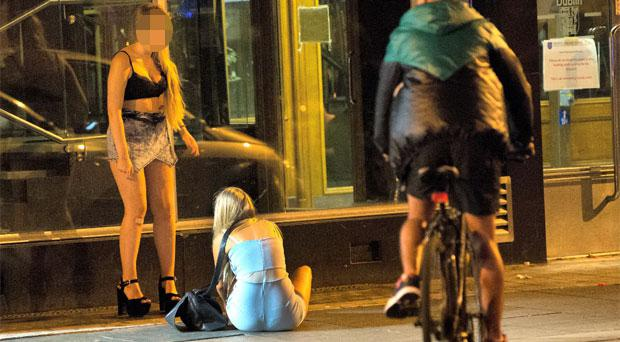 Two teenage girls out in Dublin on Junior Cert results night 2013