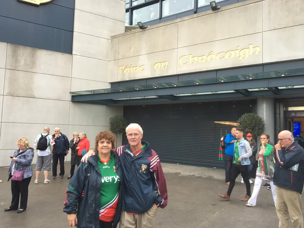 Margaret and Michael outside Croke Park last year