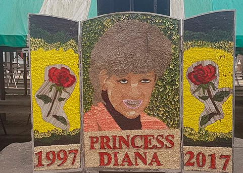 The tribute to Diana. Picture: Chesterfield Borough Council