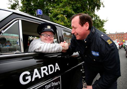Wesley Smith, from Kells, with Garda Tomas Boyle. Photo: Gerry Mooney