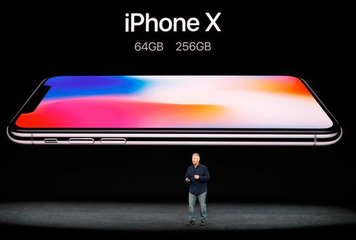 Apple Senior Vice President of Worldwide Marketing Phil Schiller introduces the iPhone X during a launch event in Cupertino California