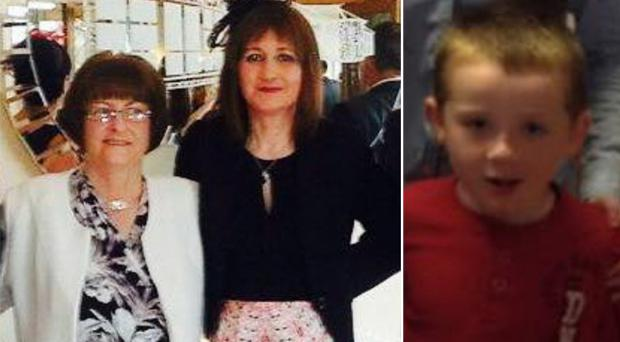 Mary Ann Wilson and her daughter Marcella Wilson who were killed in a crash along with Marcella's son Seán (right)