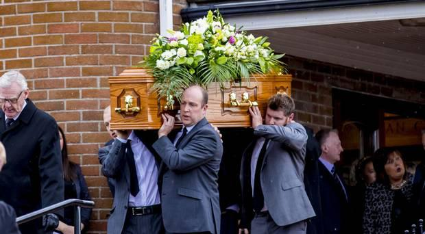 The funeral of Thelma Gorman at Armagh Free Presbyterian Church