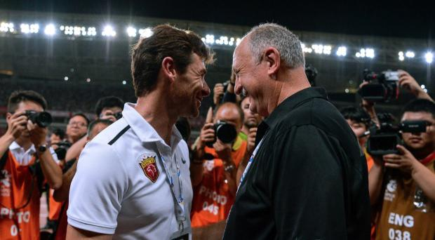 Andre Villas-Boas (left) has suggested that Luiz Felipe Scolari's side are known to 'manipulate' the Asian Football Confederation. CREDIT: GETTY IMAGES