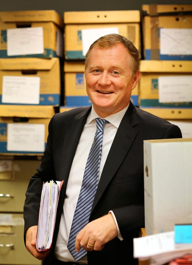 Solicitor Keith Walsh in his office in Crumlin. Photo: Frank McGrath