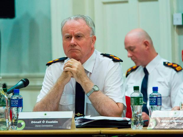 Dónall Ó Cualáin announced early on in the meeting to discuss Nóirín O'Sullivan's departure that he would not be putting his name forward to be the next permanent Garda commissioner