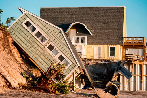 Beachfront home damaged by Hurricane Irma in Vilano Beach, Florida. Photo: Getty Images