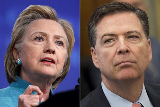 Hilary Clinton has blamed James Comey for her election loss