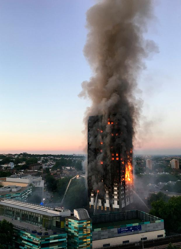 File photo dated 14/06/17 of the fire at Grenfell Tower in west London.The chairman of the public inquiry into the causes of the Grenfell Tower fire will deliver his opening statement in the first public hearing of the contentious probe. Photo: Natalie Oxford/PA Wire