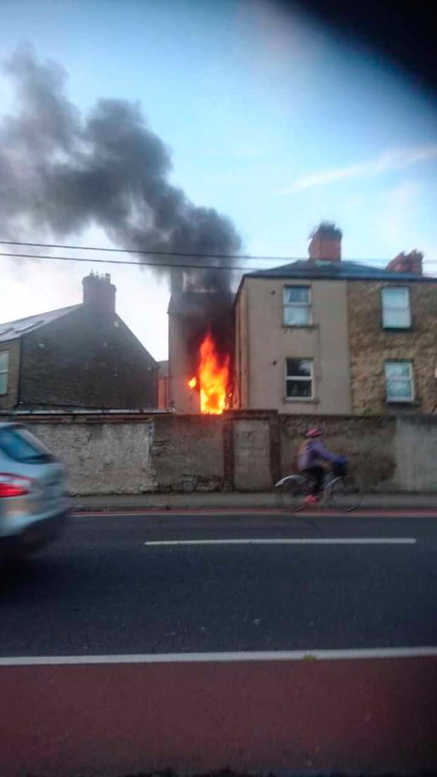 Three people were injured in the building blaze which broke out this morning at approximately 7am on Grove Road