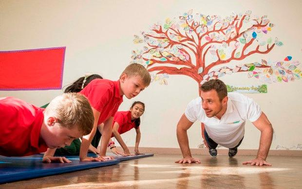 Tommy Bowe launching Subway's Sports for Schools