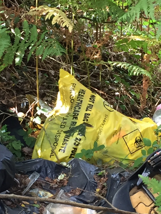 Hazardous and domestic waste dumped in Munster beauty spot. Photo: Brian O'Connell / Twitter