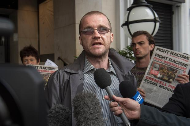 Local resident Joe Delaney, after the first preliminary hearing in the Grenfell Tower public inquiry, at the Connaught Rooms in central London. Photo: Victoria Jones/PA Wire