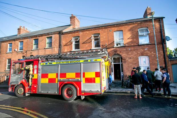 Scene of the Fatal fire in 34 Grove Park in Rathmines