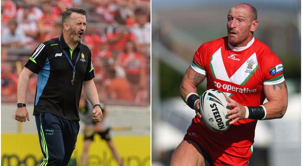 Donal Og Cusack (left) and Gareth Thomas (right).