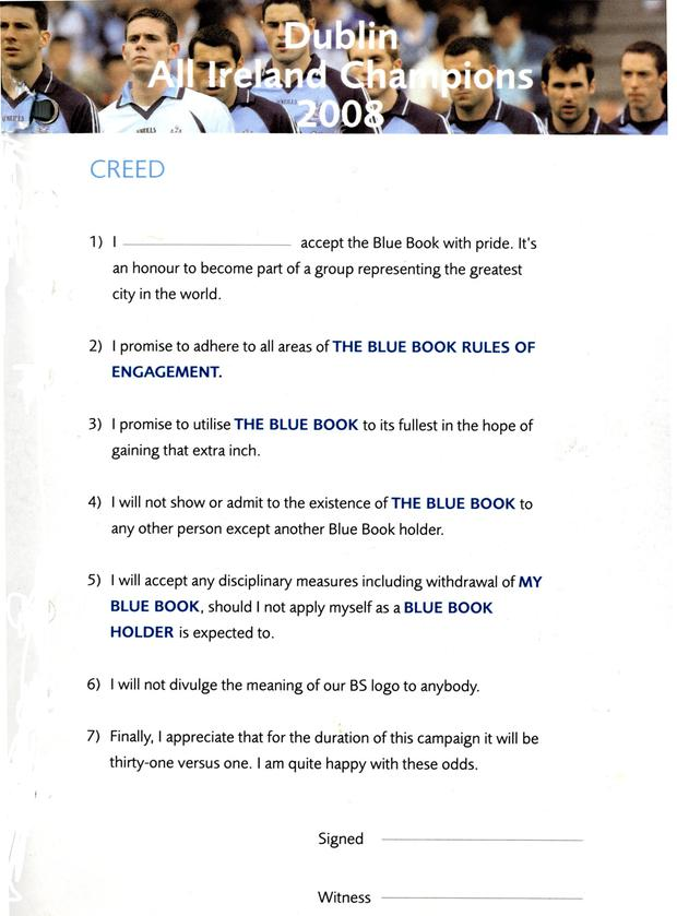 The Blue Book's Creed