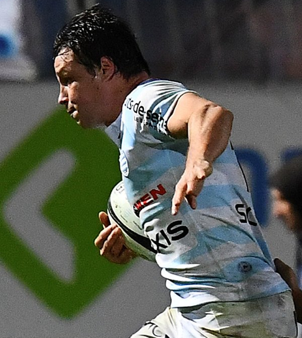 Racing 92 French centre Henry Chavancy cross the line against Brive last weekend