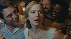 Mad world: Javier Bardem and Jennifer Lawrence in mother! Photo: Paramount Pictures