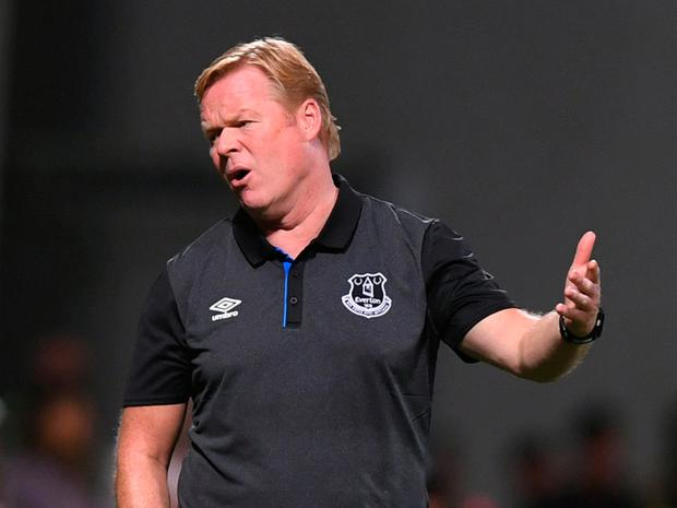 Disappointed: Ronald Koeman. Photo: Alberto Lingria/Reuters
