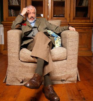 Irish-American author JP Donleavy at home in Levington Park, Co Westmeath. Photo: Marc O'Sullivan