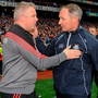 Mayo's manager Stephen Rochford and Dublin manager Jim Gavin shake hands following the All-Ireland SFC Final Replay at Croke Park last October. Photo: Sam Barnes/Sportsfile