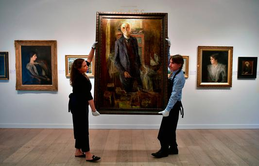 A John Butler Yeats self portrait at the Royal Hibernian Academy, Dublin. Picture: Getty