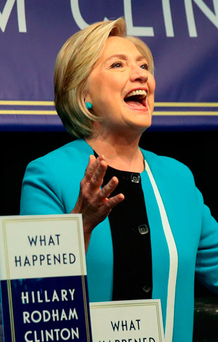 Hillary Clinton at book launch