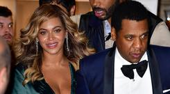 Beyonce and Jay-Z leave Rihanna's 3rd Annual Diamond Ball at Cipriani Wall Street on September 14, 2017 in New York City. (Photo by James Devaney/GC Images)
