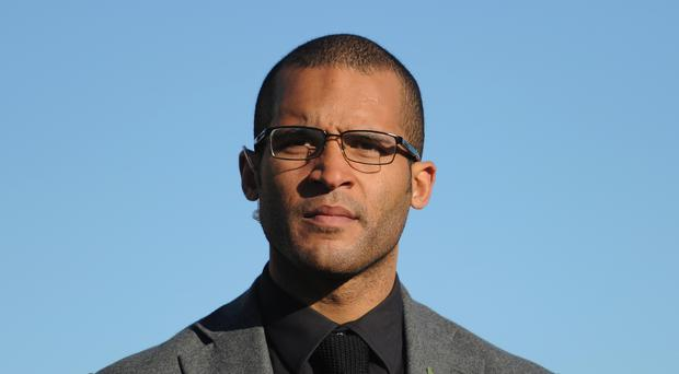 Former Northampton Town player Clarke Carlisle before the FA Cup First Round match between Bishop's Storford and Northampton Town ProKit UK stadium on November 10, 2013 in Bishop's Stortford, England. (Photo by Shaun Botterill/Getty Images)