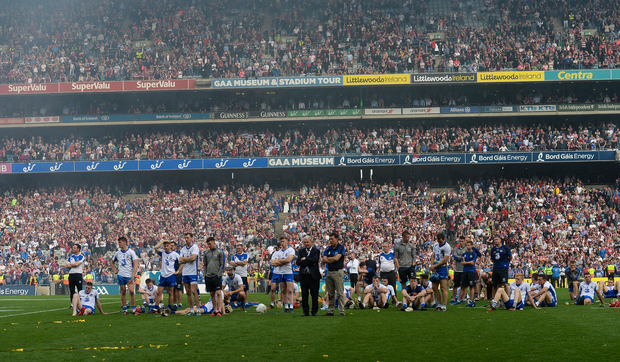 Waterford players dejected. Photo by Piaras Ó Mídheach/Sportsfile