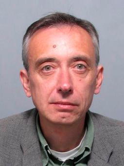 Suffolk Police undated handout photo of former law lecturer Julian Myerscough who has been sentenced in his absence after he went on the run from Ipswich Crown Court before a jury found him guilty of downloading indecent images of children Photo: Suffolk Police /PA Wire