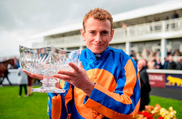 Ryan Moore: partners Capri today. Photo by Cody Glenn/Sportsfile
