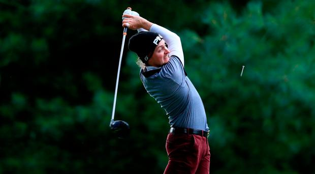 David Carey is tied for 14th place. Photo by Patrick Bolger/Getty Images