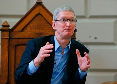 Apple chief executive Tim Cook. Picture: PA
