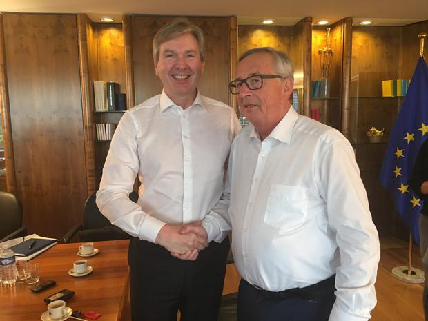 INM Group Editor-in-Chief Stephen Rae with Jean-Claude Juncker