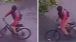 CCTV stills handed out by the Metropolitan Police of a man wanted for questioning after a 14-year-old girl was raped in a south-east London park in broad daylight: Metropolitan Police/PA Wire