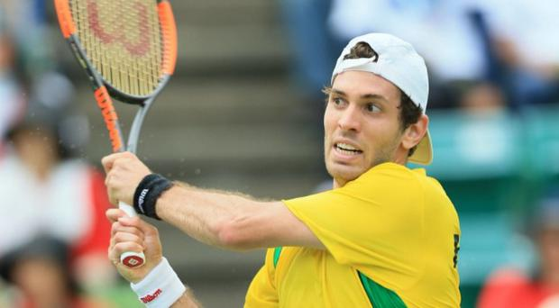 Brazilian player apologises for racist gesture during Davis Cup clash against Japan