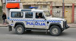 File photo of SUV of Malta police department on the street of Sliema